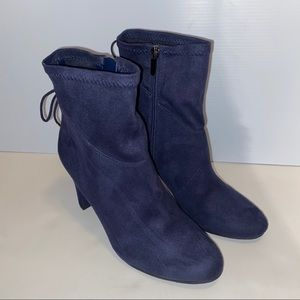 Circus by Sam Edelman Janet navy heeled booties